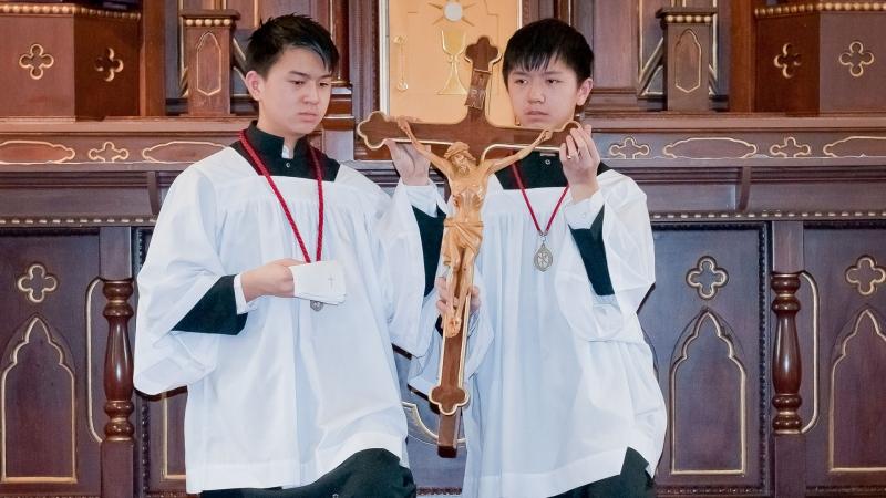 Good Friday Ceremony at the Church of Transfiguration Toronto Canada