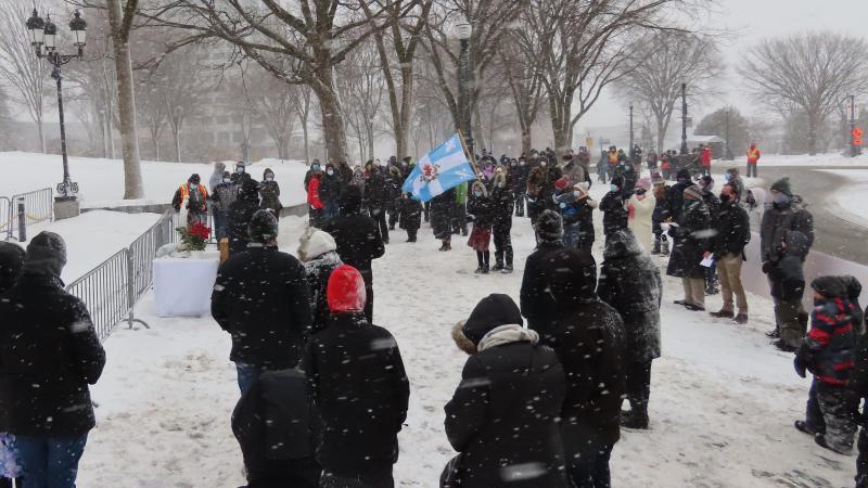 Manifestation devant le Parlement du Québec - 16 janvier 2021